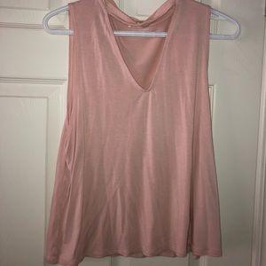 Garage Sleeveless Choker Pink  Nude Top Shirt